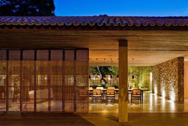 Belső udvar világítás modern építészet