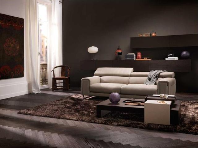 Natuzzi Etoile bőr kanapé világos színben