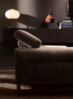 Natuzzi Etoile bőr kanapé állítható fejtámasz