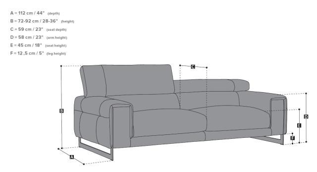 Natuzzi Etoile bőr kanapé méretek
