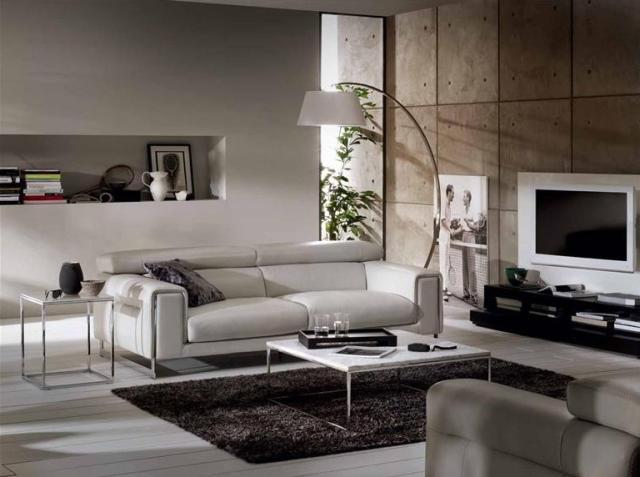 Natuzzi Etoile bőr kanapé fehér