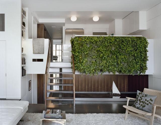 Növényfal a nappaliban