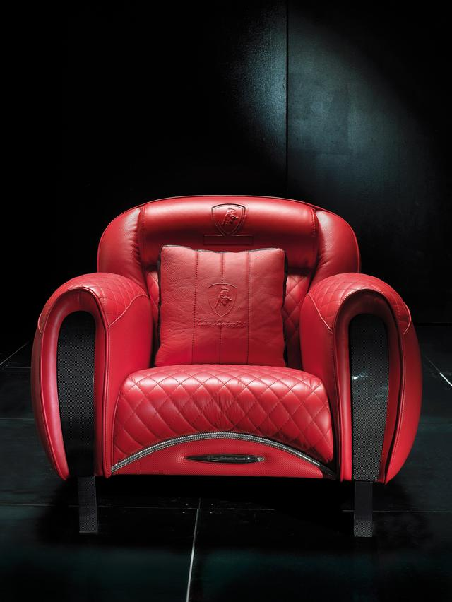 Tonino Lamborghini piros bőr fotel