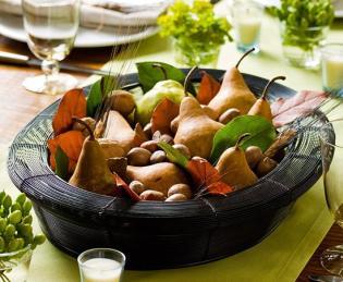 Asztaldekoráció őszi hangulatban