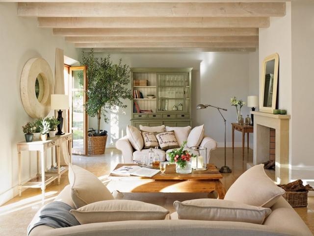 Mediterrán nappali lakberendezés