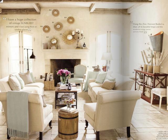 Mediterrán nappali lakberendezés és dekoráció