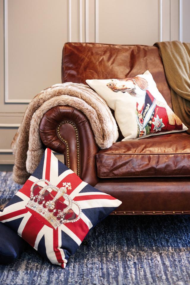 Lakástextil ajándék ötletek angol zászlós párna