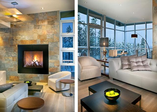 Penthouse nappali a hegyekben