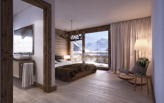Hálószoba hegyekre néző panoráma