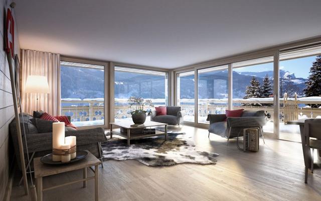 Tolóajtós teraszajtó alpesi házon