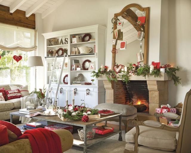 Karácsonyi hangulatú nappali