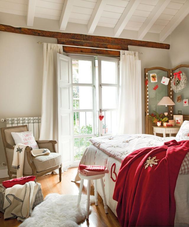 Karácsonyi hálószoba dekoráció