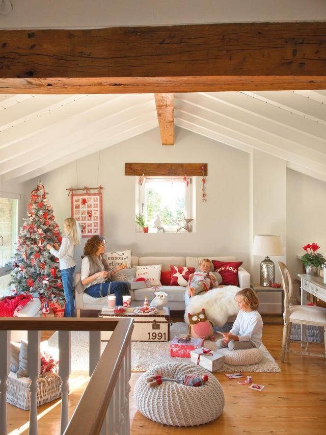 Karácsonyi hangulatú lakásdíszítés