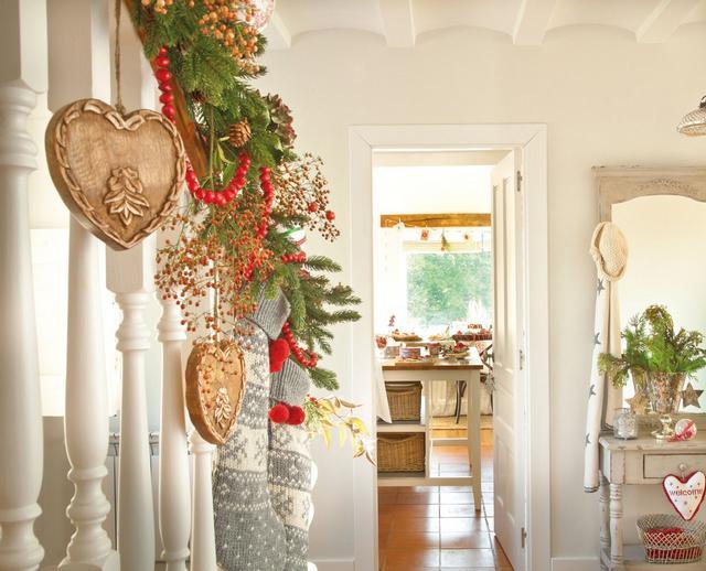 Karácsonyi lépcsődekoráció