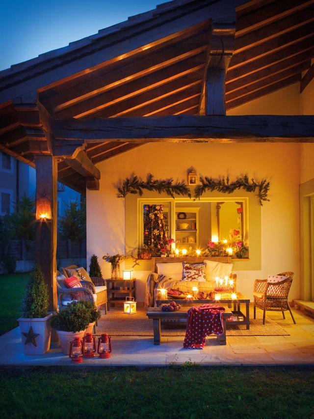 Karácsonyi udvar és terasz dekoráció
