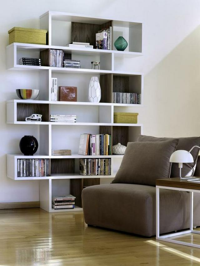 Tema Home IDdesign fehér könyvespolc