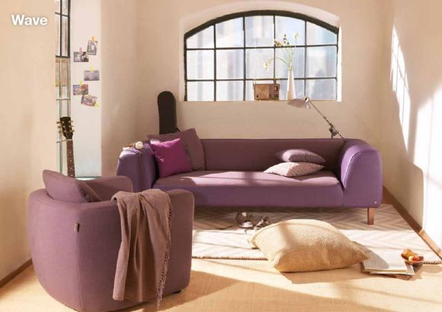 Tom Tailor lila kanapé és fotel