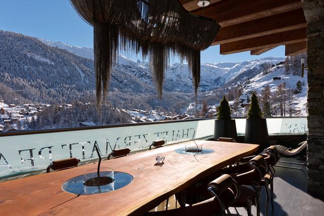 Zermatt Chalet Peak terasz kávézó