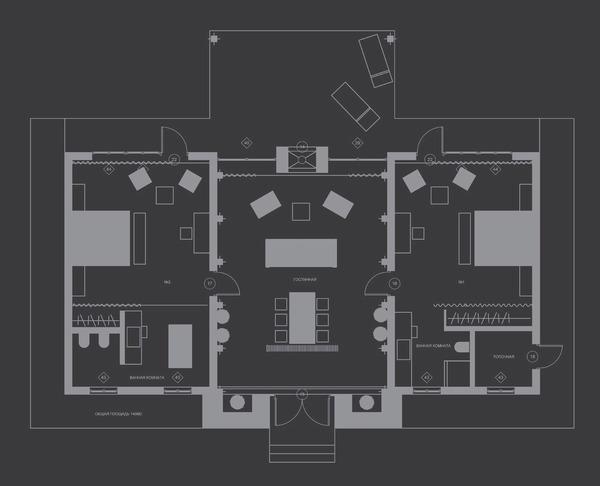 Apartmanház alaprajz
