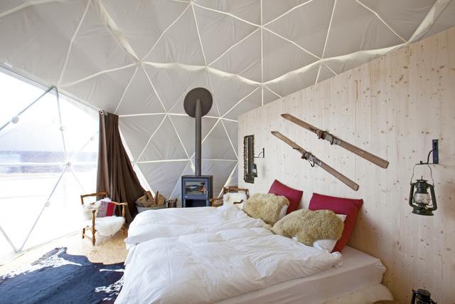 Luxus hálószoba Whitepod
