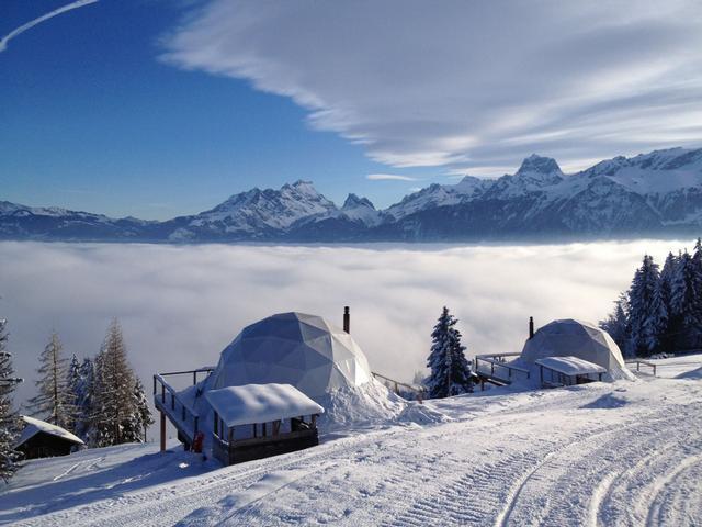 Svájci hegyi panoráma