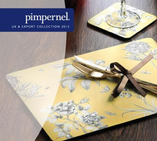 Pimpernel tányér- és poháralátét a hangulatos terítékhez