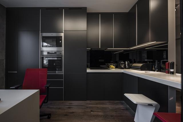Modern konyhabútor kis méretű konyhába