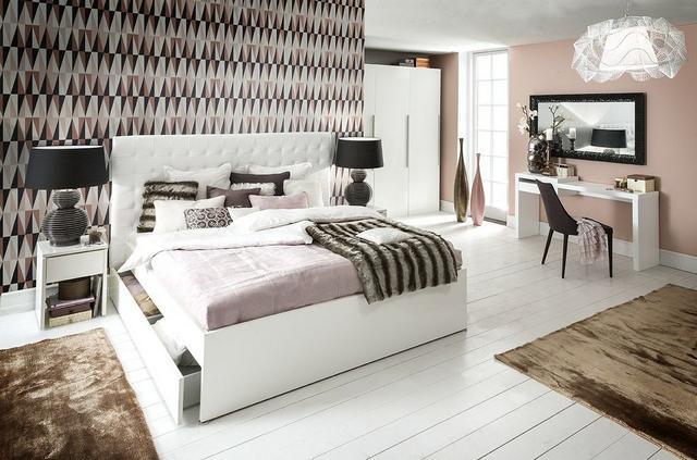 IDdesign fehér franciaágy és hálószoba