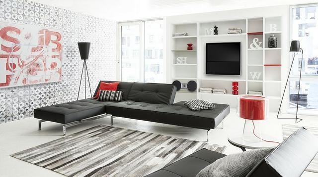 IDdesign modern retró hatású fekete kanapé