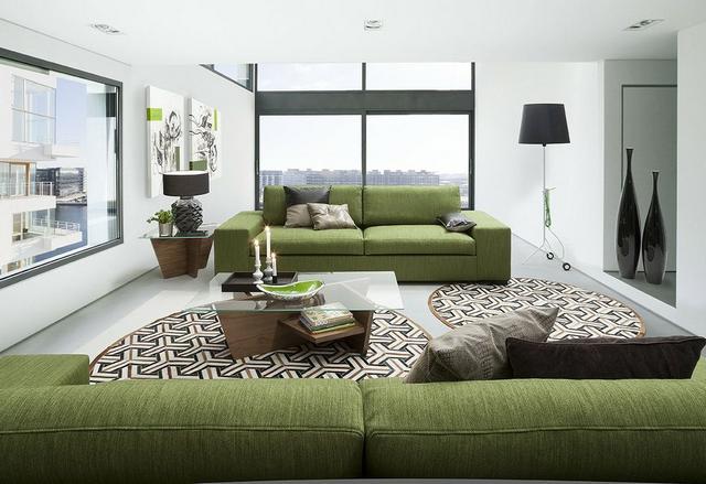 IDdesign fáradt zöld kanapé