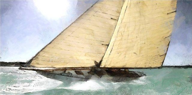 Vitorláshajó festmény