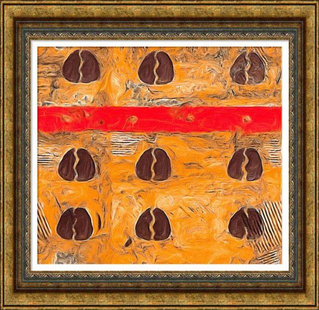 Egyedi modern festmény keretben