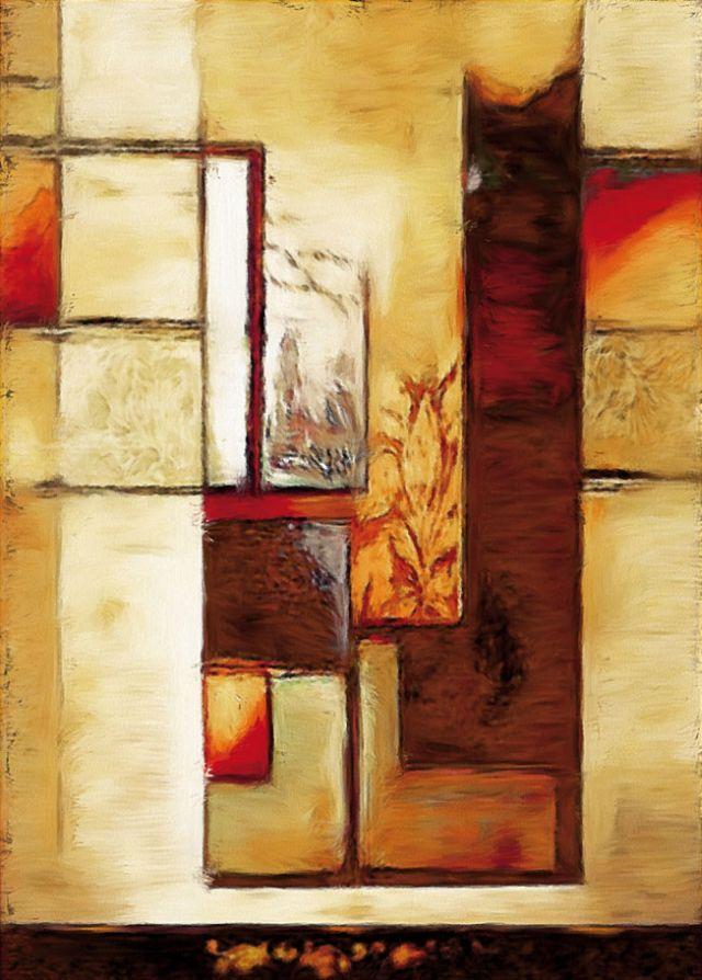 Modern festmény geometrikus minták