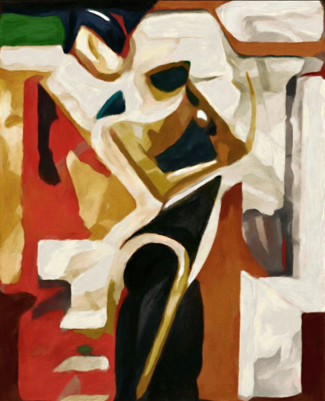 Modern nonfiguratív festmény