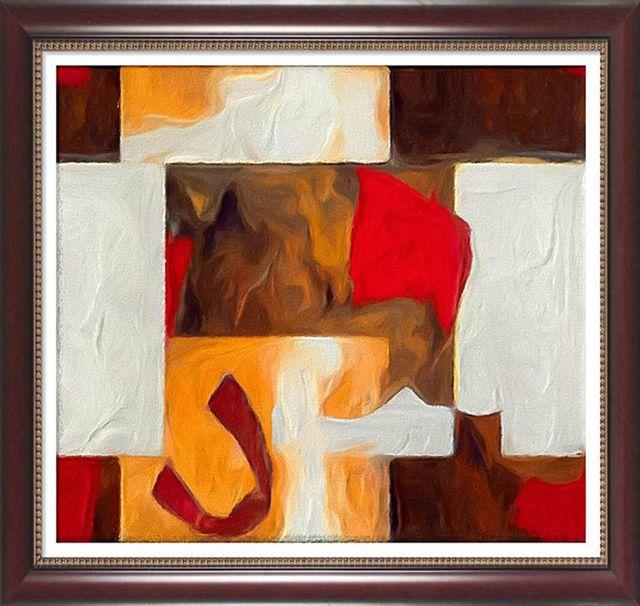 Modern festmény keretezett