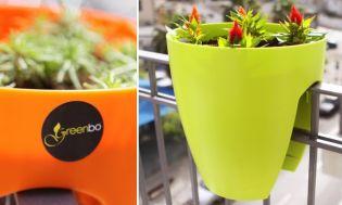 Greenbo design díjas műanyag virágcserép