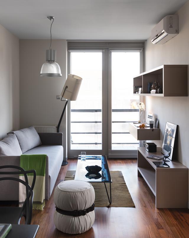 Kis alapterületű nappali