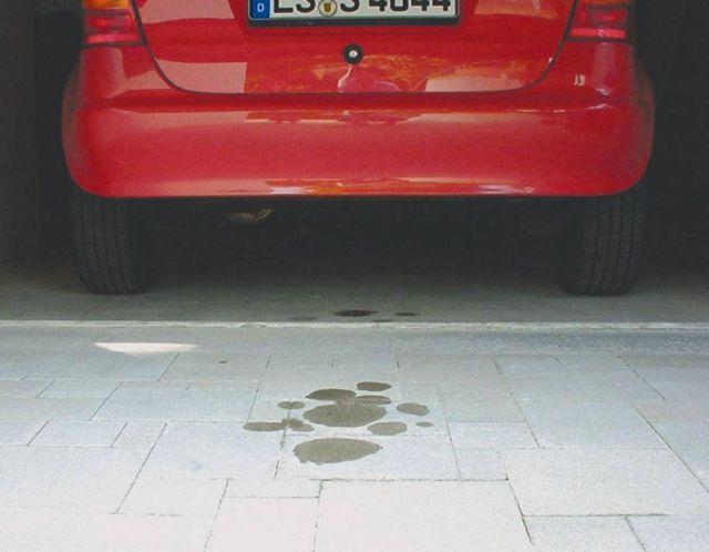 Olajfolt a kocsibeállóban