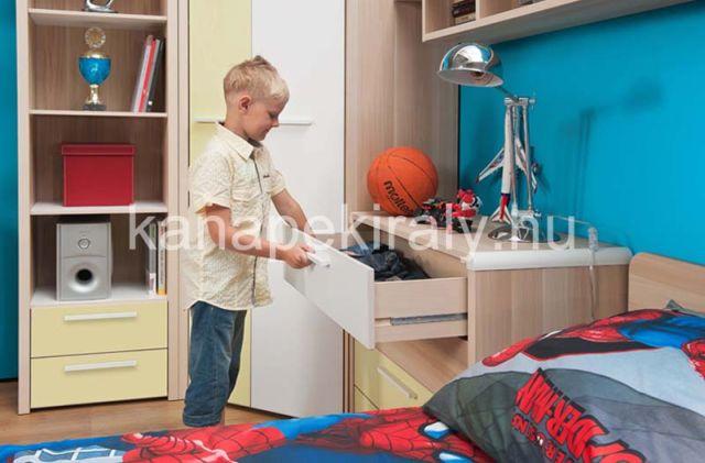 Flip ifjúsági elemes bútorcsalád, gyerekszobába