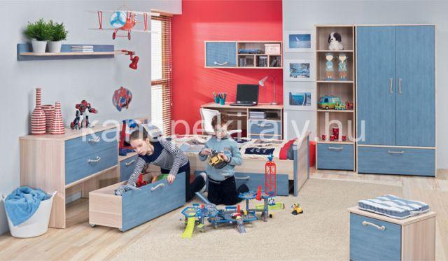 Nodo ifjúsági elemes bútorcsalád, gyerekszobába