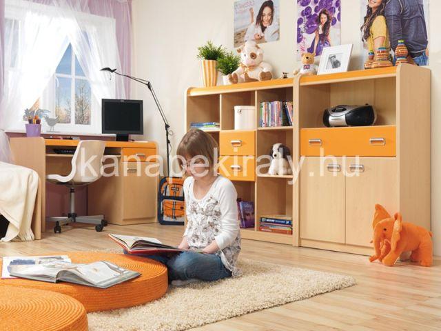 Apli ifjúsági elemes bútorcsalád, gyerekszobába
