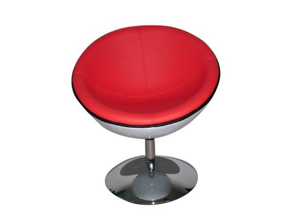 Piros és fehér klub fotel forgó