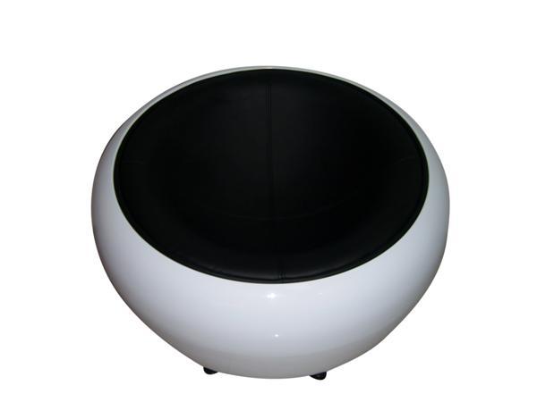 MF-5281 fotel króm, fehér, fekete textilbőr