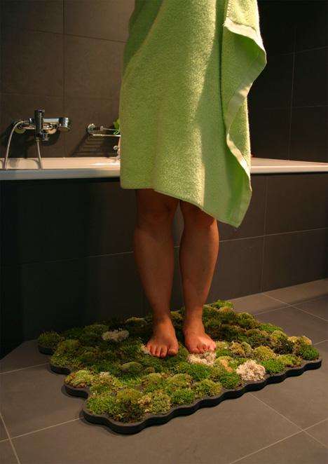 Mohaszőnyeg kádkilépő fürdőszoba ötlet