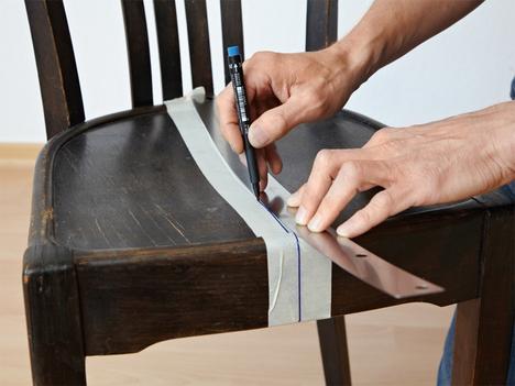 régi fonott szék kreatív