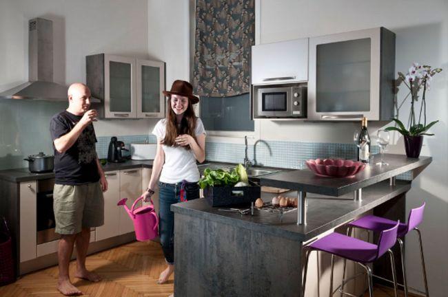 Polgári lakásban modern konyha