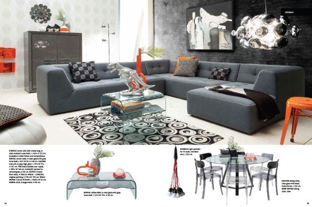 Design nappali bútor szürke kanapé, sarokgarnitúra