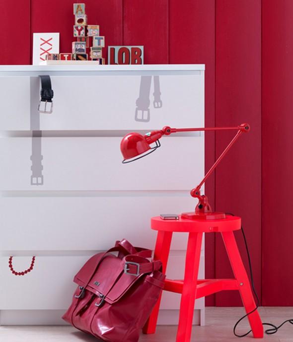 Ruhatároló szekrény dekoráció