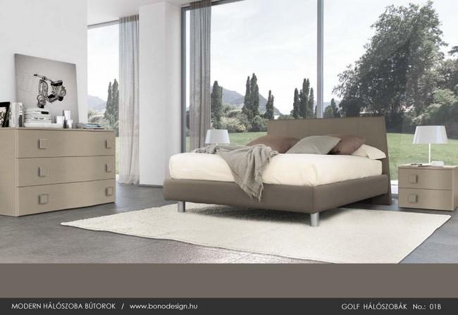 Natúr színű hálószoba bútor
