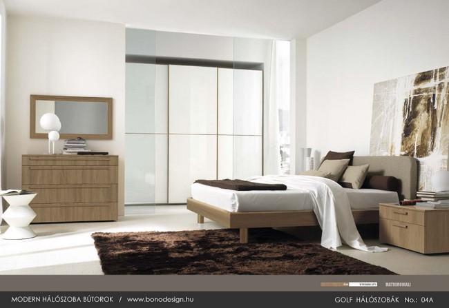 Modern lakberendezés hálószobabútor